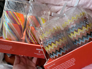 Missoni For Target Tumblers 20th Anniversary Collection Tall & Short Cups Set 8