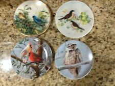 Knowles- Lenox- Lefton Collector Plates 8in. Bird Cardinal Indigo Evening Lot