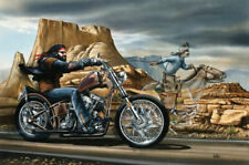 Ghost Rider David Mann Motorcycle Art Silk Poster Wallpaper Home Room Decor