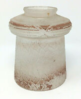 Antique Mission Arts & Crafts Single Glass Pendant Lampshade For Parts Or Repair