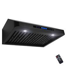"30"" Under Cabinet Black Stainless Steel Touch Panel Kitchen Range Hood Cook Fan"