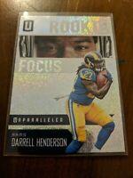 Darrell Henderson 2019 Panini Unparalleled Rookie Focus LA Rams RC