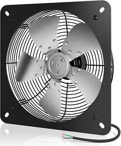 iPower 12 Inch Exhaust Fan Aluminum High Speed 1300RPM Silver