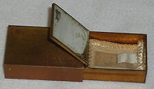 small Antique Ladies POWDER CASE with powder screen ~ 1.75 inch