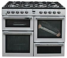 Flavel Range Cooker MLN10FRS Dual Fuel Freestanding 2 Oven 100cm Silver #1969