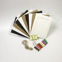 10pcs Cardboard Paper Picture Frame 5/6Inch DIY Photo Frame W/Clip String Kit