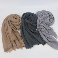 Premium Viscose Maxi Crinkle Cloud Hijab Scarf Soft Islam Muslim Shawl 2019