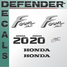 Honda 20 hp Four Stroke outboard engine decal sticker set kit reproduction 20HP