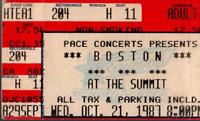BOSTON - HOUSTON SUMMIT Original Ticket