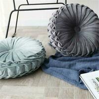 Back Cushion Throw Round Chair Floor Pillow Velvet Mat Cover Couch Meditation