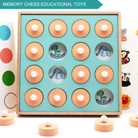 Kids Child Wooden Memory Match Chess Games Early Educational Learning Puzzle Toy