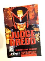 Judge Dredd SNES Super Nintendo Instruction Manual Only