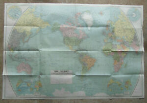 Map THE WORLD Original 1932, published by National Geographic Society