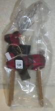 Pottery Barn Plaid Fabric Reindeer Ornament 1 LARGE NEW W/ TAGS