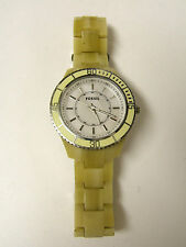 (W) FOSSIL STELLA NATURAL RESIN WATCH ES2457 PRE-OWNED WORKING BATTERY