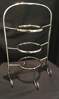 TALL EPNS 3 TIER CAKE STAND ART DECO NOUVEAU AFTERNOON TEA PARTY WEDDING GIFT