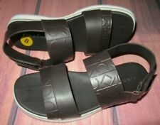 MENS CALVIN KLEIN BROWN CASUAL SANDALS SIZE 8