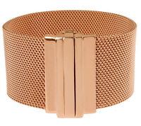 "Bronzo Italia Rose Colored Bronze Mesh Bracelet 8"" QVC $183 QVC Sold Out!"