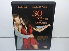 30 Days Until Im Famous (DVD, Region 1 USA/Canada, 2005) Very Good - Guaranteed