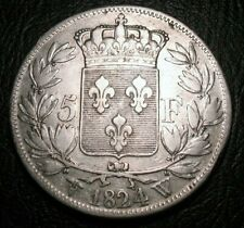 France 1824 W 5 Francs KM#711.1 Louis XVIII