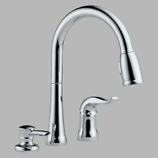 Delta 16970-SD-DST Single Handle Pull Down Kitchen Faucet with Soap Dispenser,