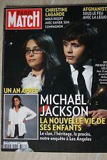 PARIS MATCH N°3187 JUIN 2010 / MICHAEL JAKSON CHRISTINE LAGARDE AFGHANISTAN