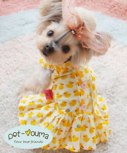 Girl Yorkie Dog Dress Clothes Pet Apparel Outfit for Mini Schnauzer Chihuahua
