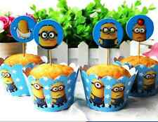 12 x Cupcake Cup Cake Decorating,Toppers Wrappers DECORATION, Minions