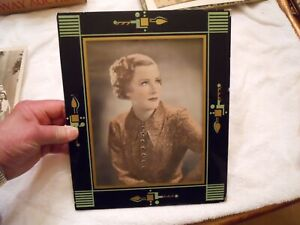 SIGNED  PHOTO IN ART DECO FRAME IRENE DUNN