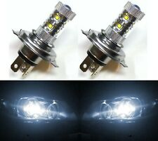 LED 50W 9003 HB2 H4 White 5000K Two Bulbs Head Light Replace Off Road Plug Play