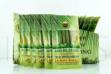 24x Wraps King Palm Mini 100% Tobacco Fee Natural Leaf With Corn Husk Filter