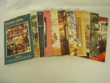 "Lot of 11 ""Nutshell News"" doll house items magazines - 9 from 1987, 2 from 1988"