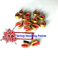 Archery String Nocking Points Brass Nock Buckle Clips Bow String Protecter Shoot