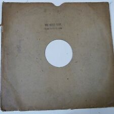 """12"""" 78rpm gramophone record sleeve  THE MUSIC SHOP 7 Lower Broughton Rd  Salford"""