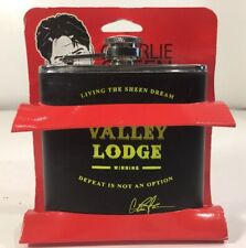"Charlie Sheen ""Sober Valley Lodge Winning"" Stainless Steel 6oz Flask Tiger Blood"