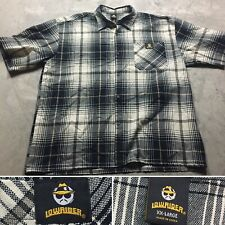 LOWRIDER PLAID 90s VTG Low Rider HIP HOP Button Down Shadow Shirt XXL Black