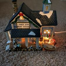 Dickens Collectables Lands End Boat House 1997 Vintage Towne Series No Box