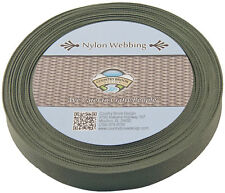 1 Inch Olive Drab Green Lite Weight Nylon Webbing, 25 Yards