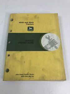 John Deere JD 4640 4840 Tractor Service Pricing Guide Manual