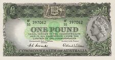 More details for p30a australia one pound banknote in mint condition issued between 1953 to 1960