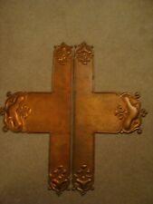 2 x Art Nouveau Copper Lock Plates   20/272
