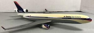 Delta Air Lines MD-11 N802DL Desk Model Scale 1:200 12.5 Inches Long