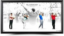 "TIGER WOODS Autographed ""Victory"" 36 X 18 Framed Photograph UDA LE 80"