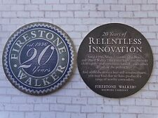 Beer Coaster <> FIRESTONE WALKER Brewery >< 20 Years of Innovation <> Since 1996