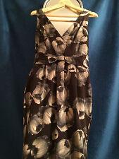 Hobbs Montpellier Dress, Dark Zinc, 10