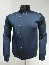 BECOME maglione uomo lana a giacca art.543501A col.BLU tg.52 inverno 2013