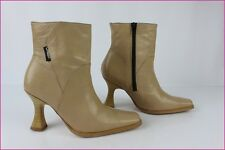 Bottines ORDNAEL Cuir Beige T 36 BE
