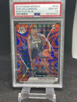 2019 Panini Mosaic Reactive Blue Zion Williamson ROOKIE RC #209 PSA 10 GEM MINT
