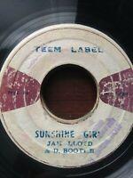 "Jah Lloyd & D.Boothe-Sunshine Girl 7"" Vinyl Single 1973 ROOTS REGGAE"