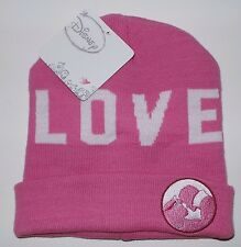 "DISNEY PRINCESS Sleeping Beaty Aurora Beanie Hat Skull Cap ""Love"" Womens Girls"